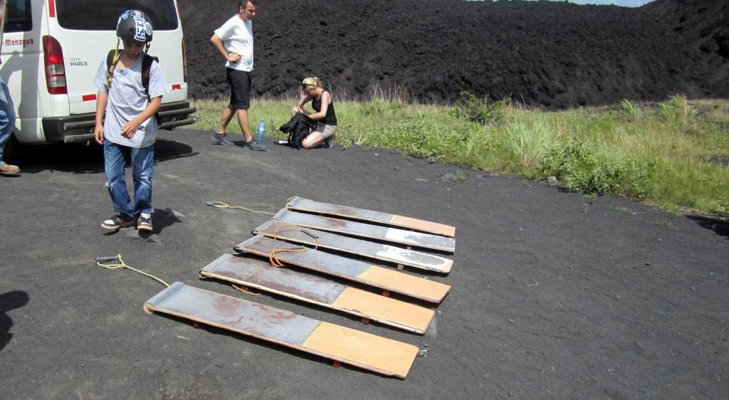 Nicaragua Volcano Boarding Sleds