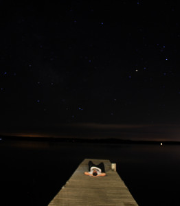 laying on the dock