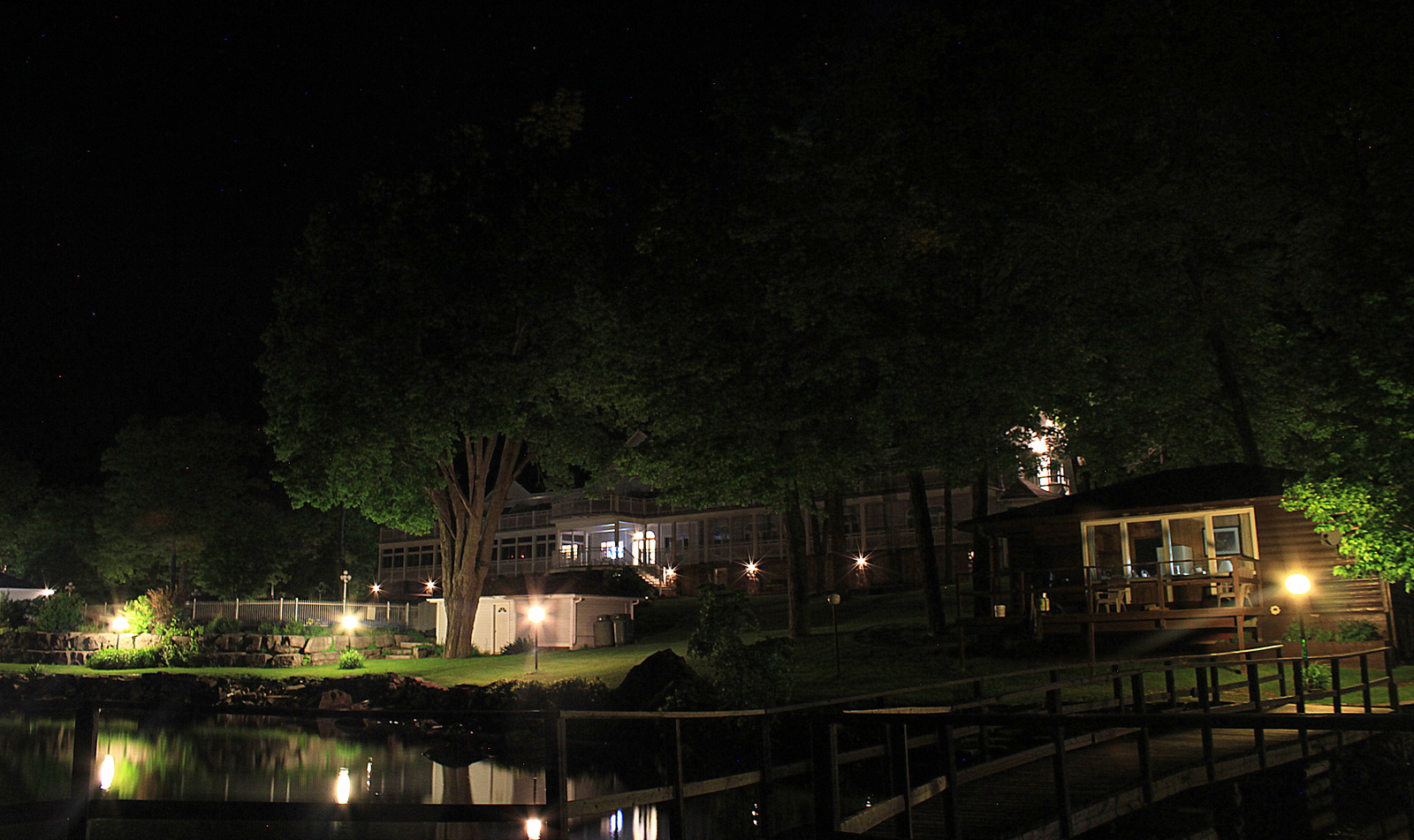 Viamede Resort Dock at Night