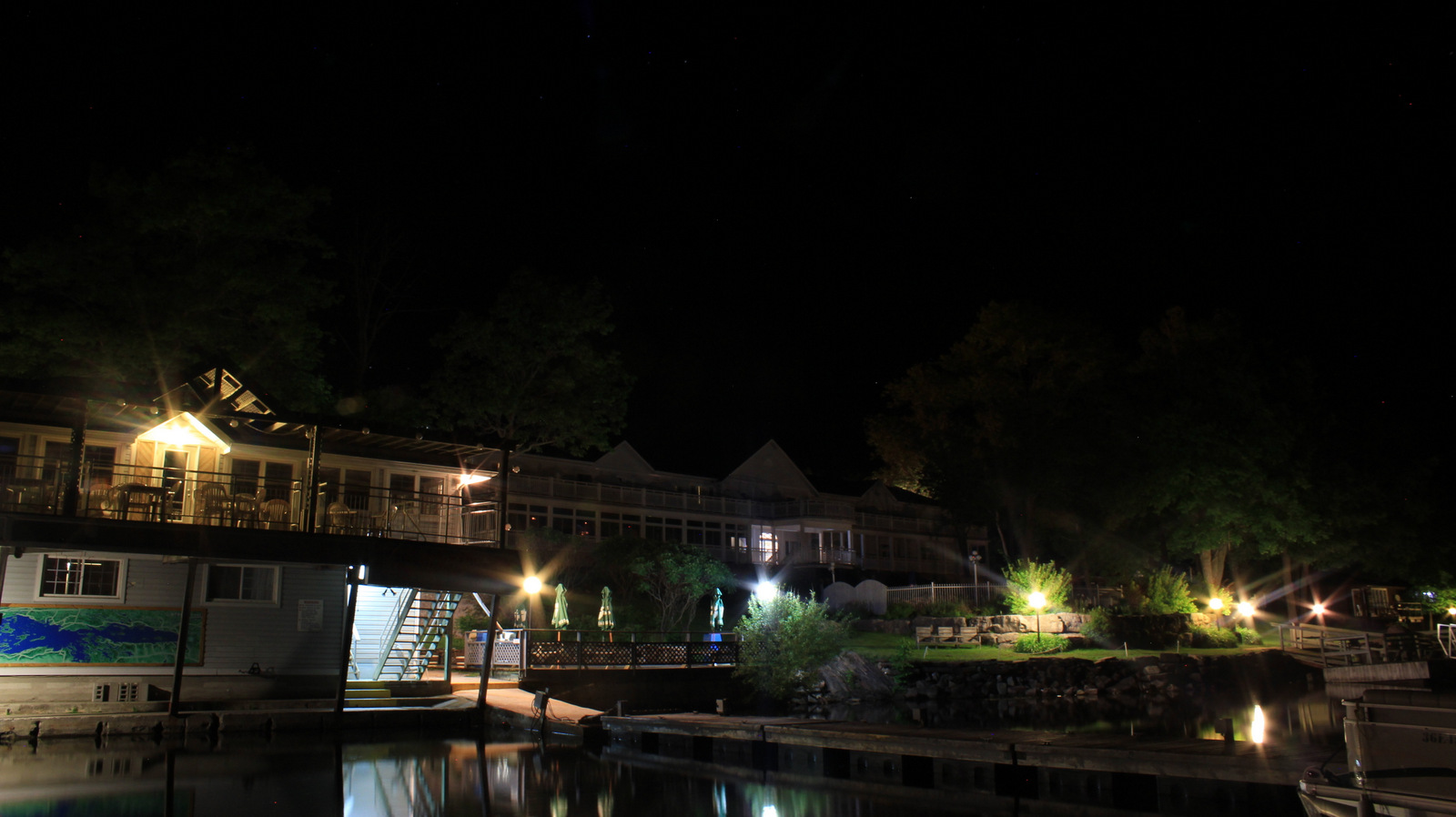 Viamede Resort at Night