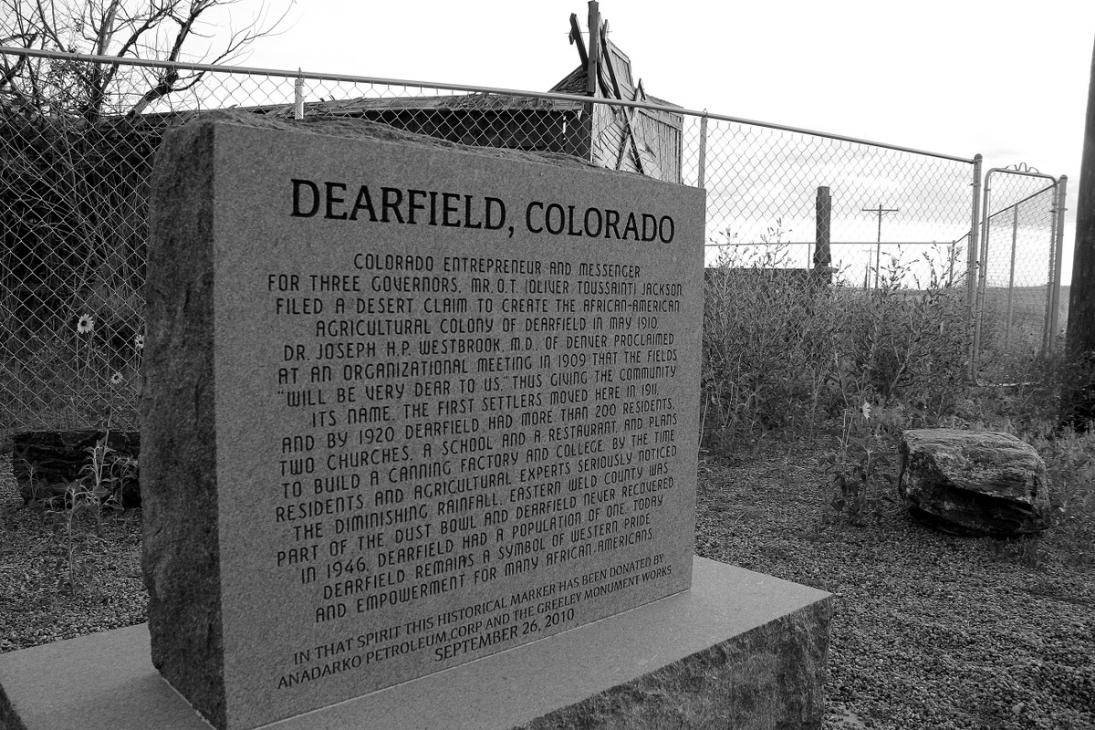 Dearfield Monument