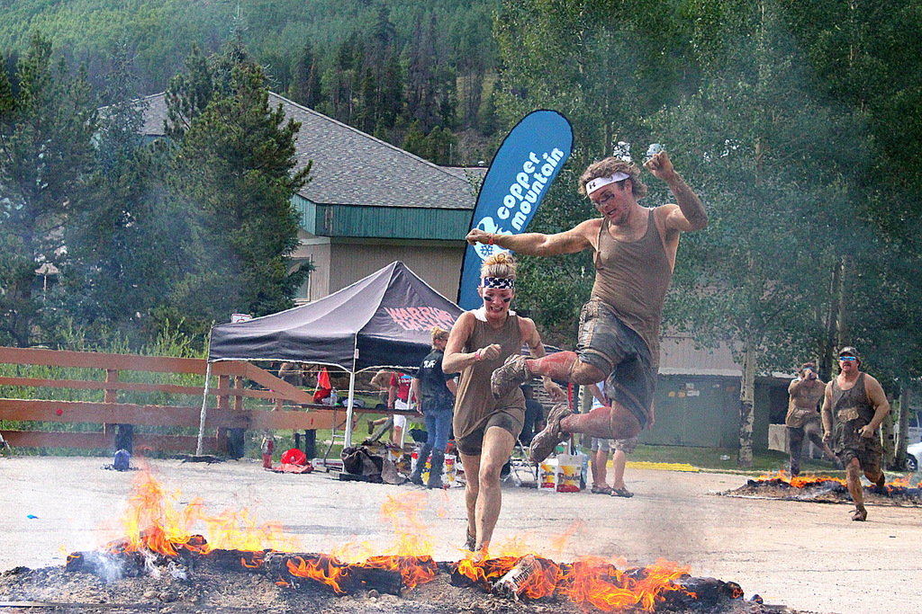 Warrior Dash Fire Obstacle