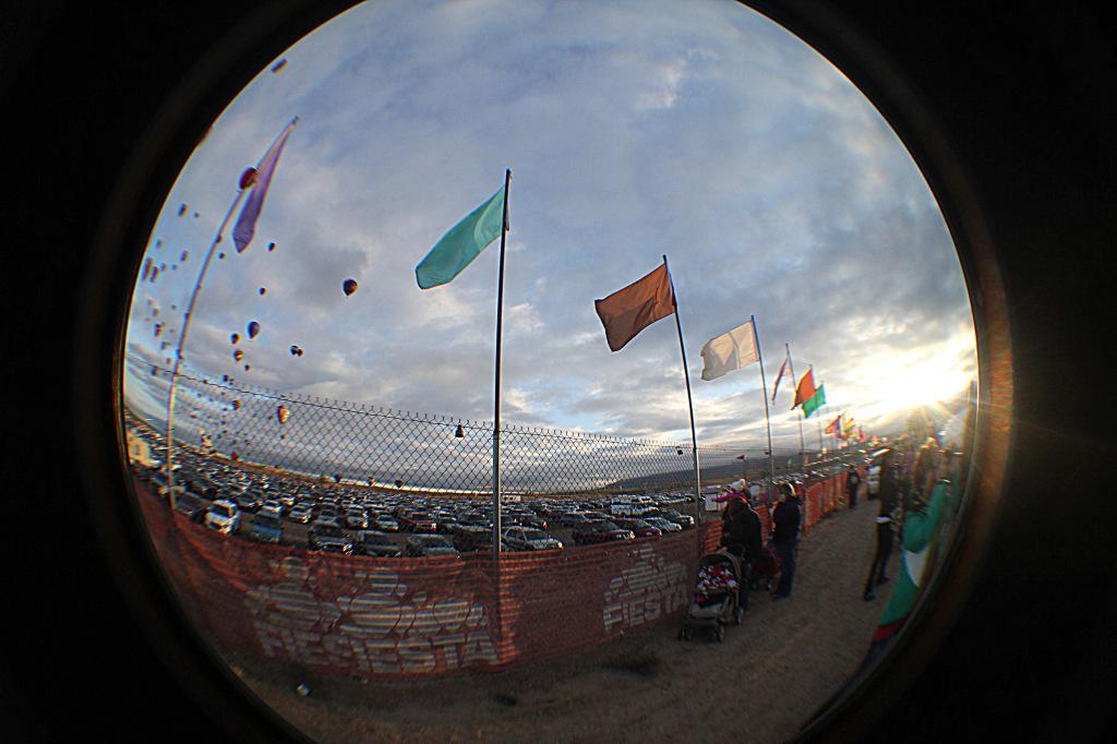 Fish eye hot air balloon